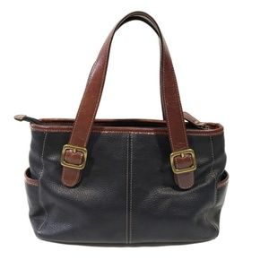 BOGO Fossil Black and Brown Leather Shoulder Bag